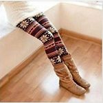 christmas pattern tights