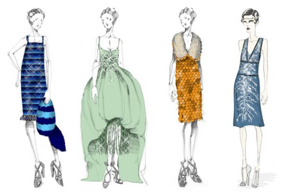 prada costume sketches for the great gatsby