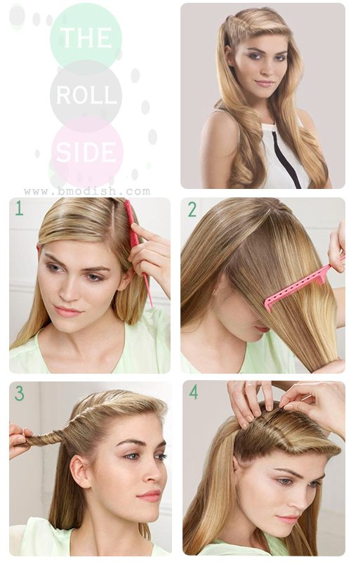 roll side hairstyle bmodish.com