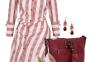 classy maroon stripped dress