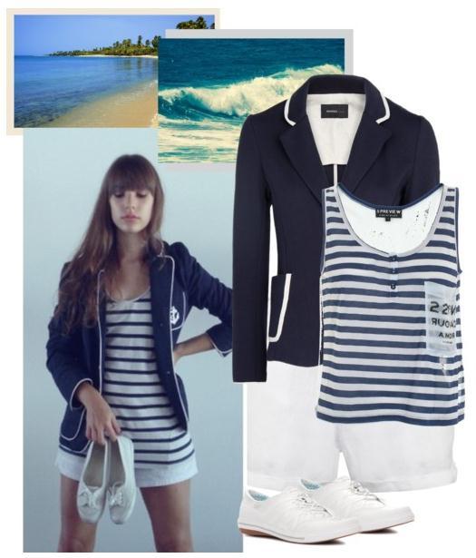 blue navy blazer sailor