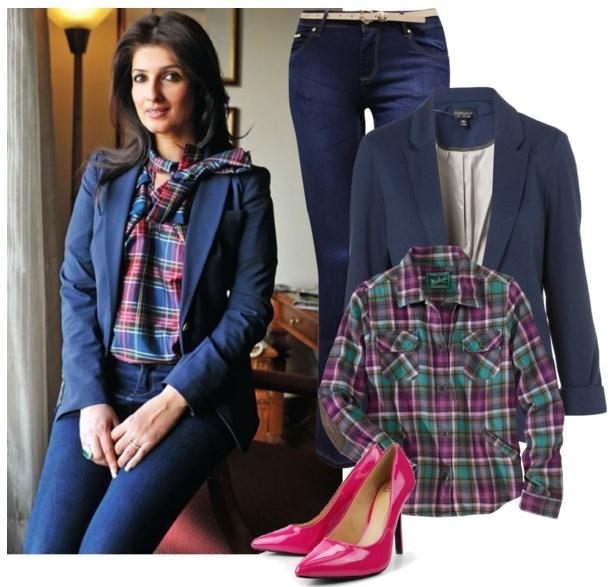 blue navy blazer with blouse