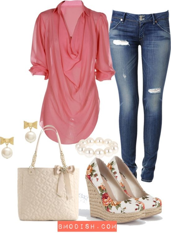 coral spring summer outfits