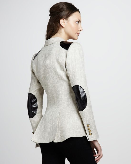 elbow patch blazer