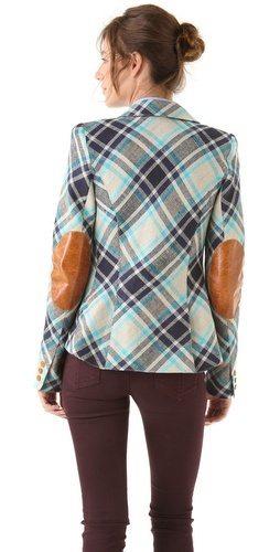 elbow patch blazer vintage
