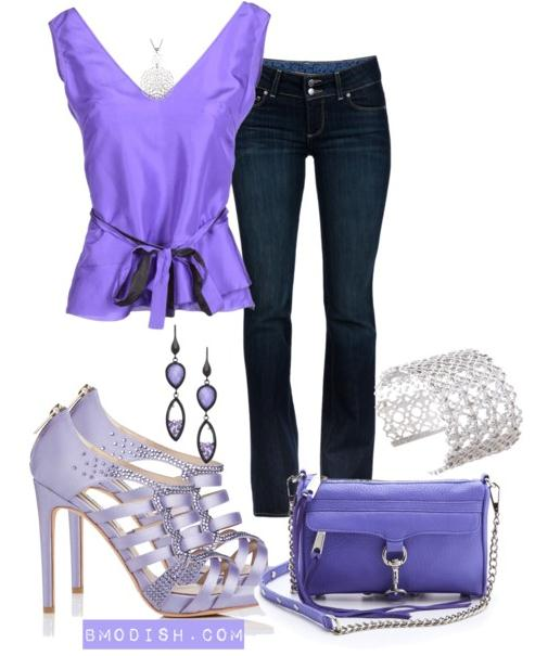 purple classy outfits
