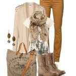soft beige fall outfits