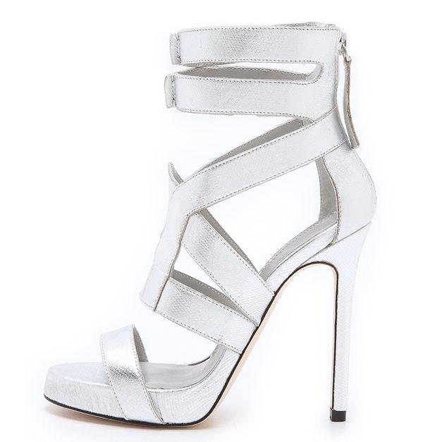 Camilla Skovgaard Platfirn Metallic Sandals