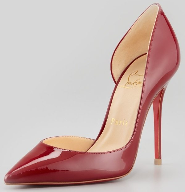 Christian Louboutin Iriza Pointed-Toe d'Orsay Red-Sole Pumps