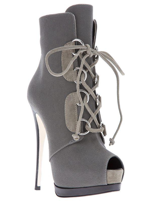 Giuseppe Zanotti Stiletto Lace-Up Boots