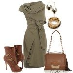 olive green dress classy outfits
