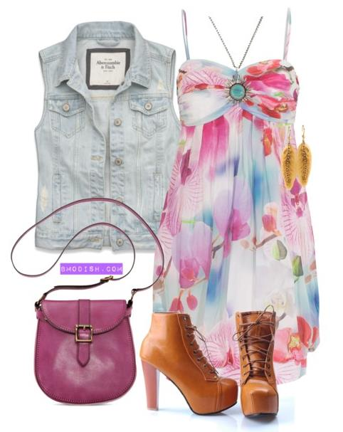 summer dress with ankle boot
