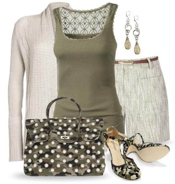summer outfit army look