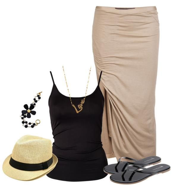 summer outfit black