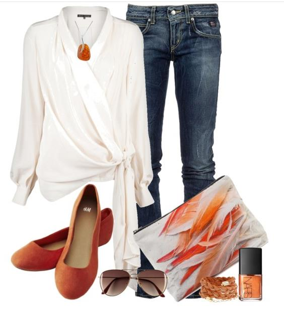 summer outfit orange