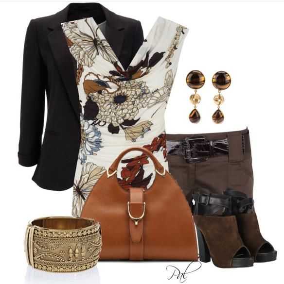 belted short summer outfit