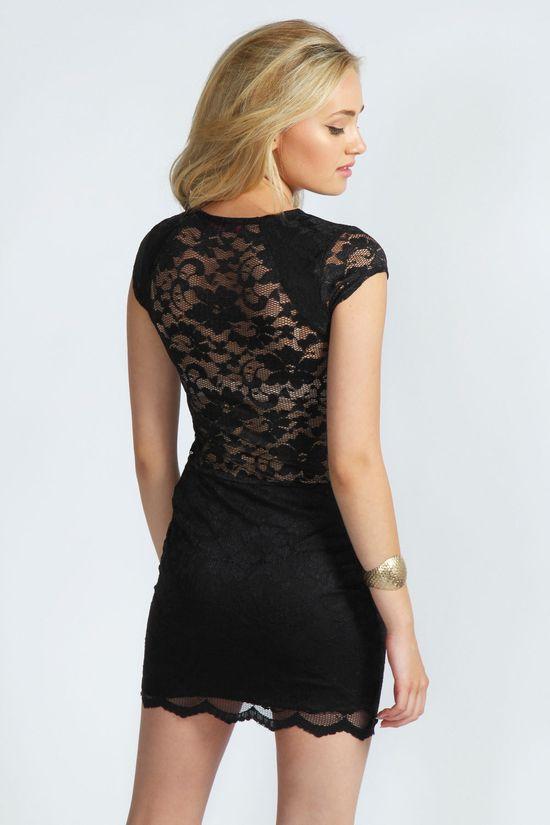 bodycon dress lace black
