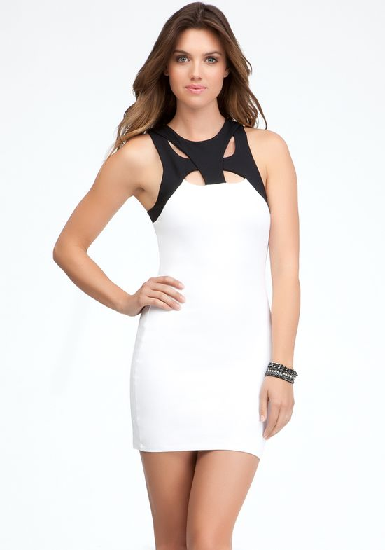 bodycon dress white