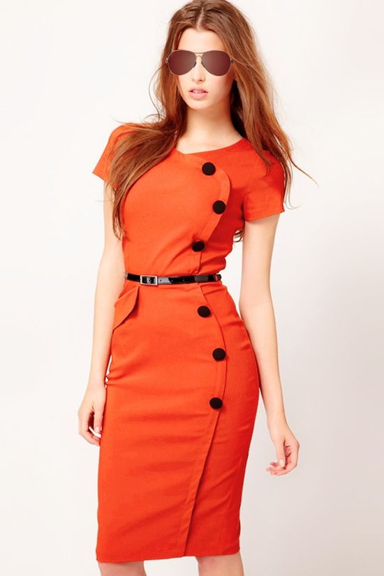bodycon dress orange