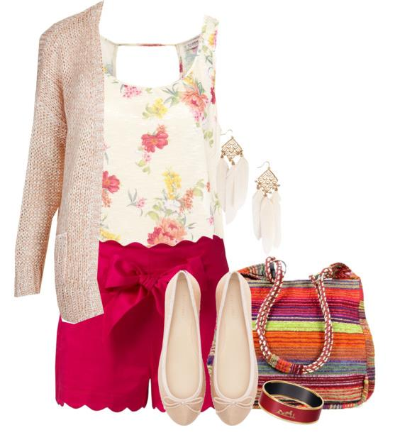 summer outfit floral prints