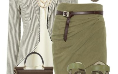 working outfit olive green