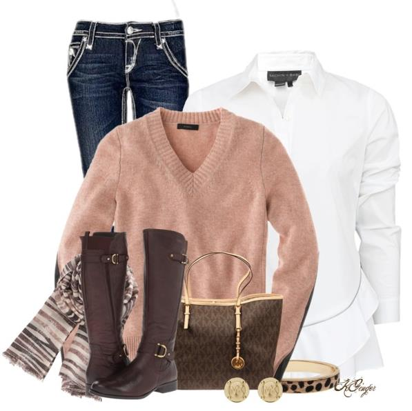 dark brown boots outfit ideas 2013