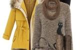 how to wear yellow winter coat