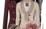 Burgundy Pea Coat Fall Winter Outfit Combination