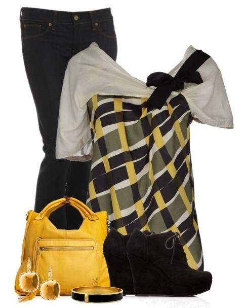 casual black and yellow saturday outfit be modish