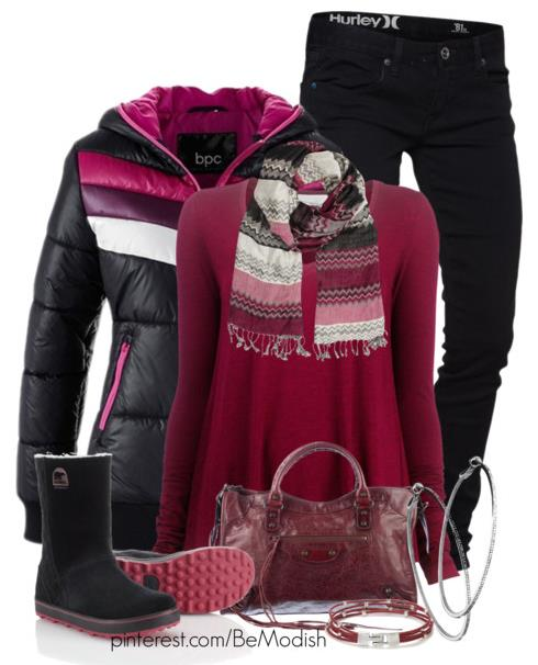 Casual Cozy red winter outfit