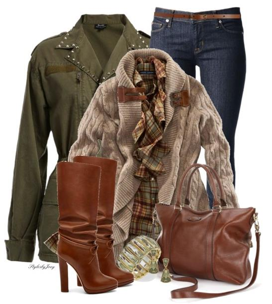 Casual Fall Outfit With Army Jacket