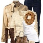 Cream and Soft Brown Winter Outfits New Look