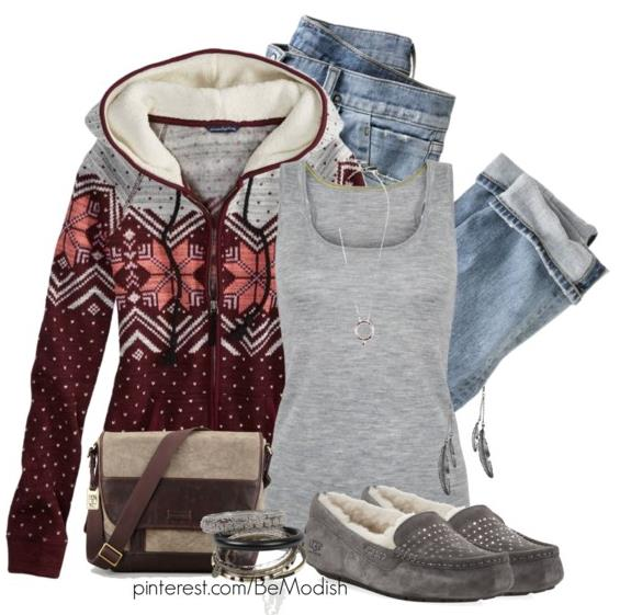 Easy Fall Outfit With Fleece Hoodie