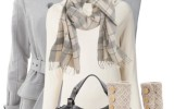 J.crew plaid scarves winter outfit