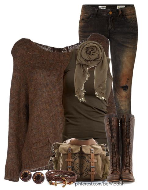 2014 Womens Fall Clothes Vintage Brown Fall Winter