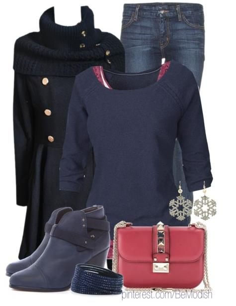 """Winter Blues"" Winter Outfit"