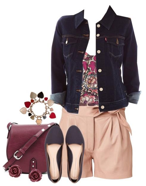 casual girly leather short
