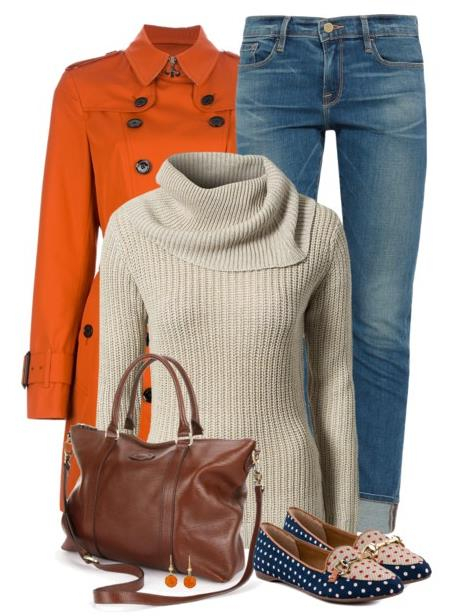 fall outfit with patterned flat bmodish.com