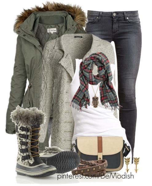 khaki green winter outfit ideas