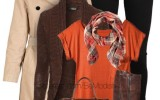 orange brown winter outfit must have