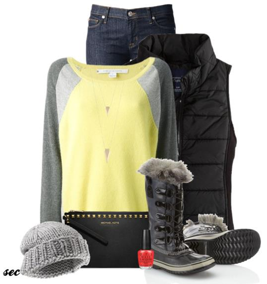 simple winter outfit for school