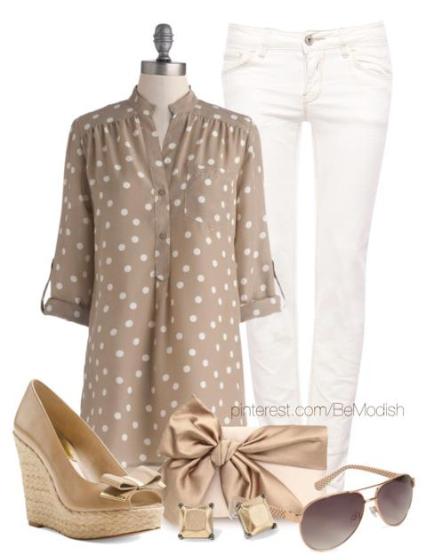 soft creamy casual summer outfit 2014