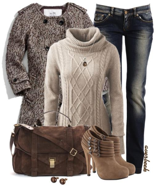 what to wear with tan sweater for winter outfits