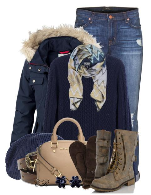 winter outfit blue jacket bmodish.com