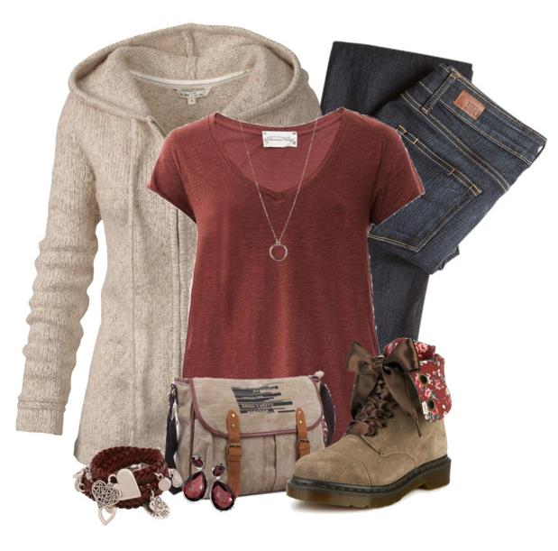 Casual Outfit For School With Suede Boots