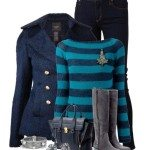 Cute Fall Winter Outfit With Grey Tall Boots