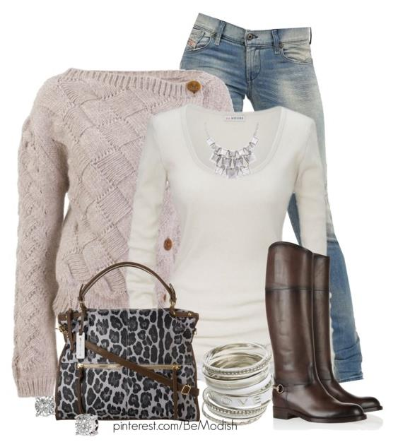 Stylish and Casual Fall Outfit With Tall Boots