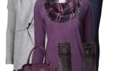 cozy and stylish fall outfit with knit pattern cardigan