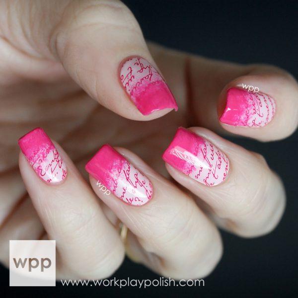 valentine incoco nail art