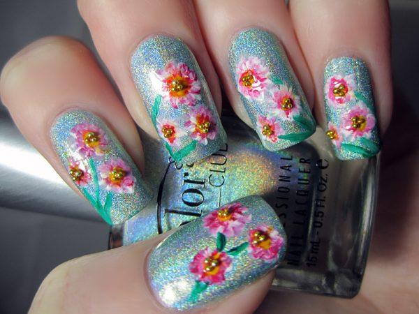 floral nail designs 2014